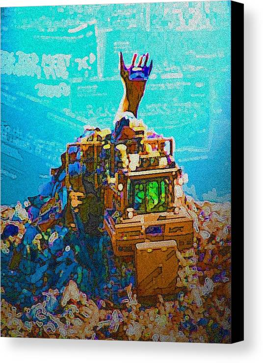 Credit Canvas Print featuring the photograph Mountain Of Debt by Jennifer Ott