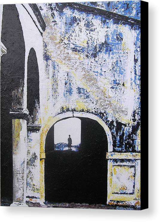 Tunnel Canvas Print featuring the painting Mystical Moment by Ricklene Wren