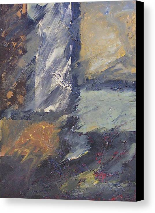 Abstract Canvas Print featuring the painting Windows by Marcia Paige