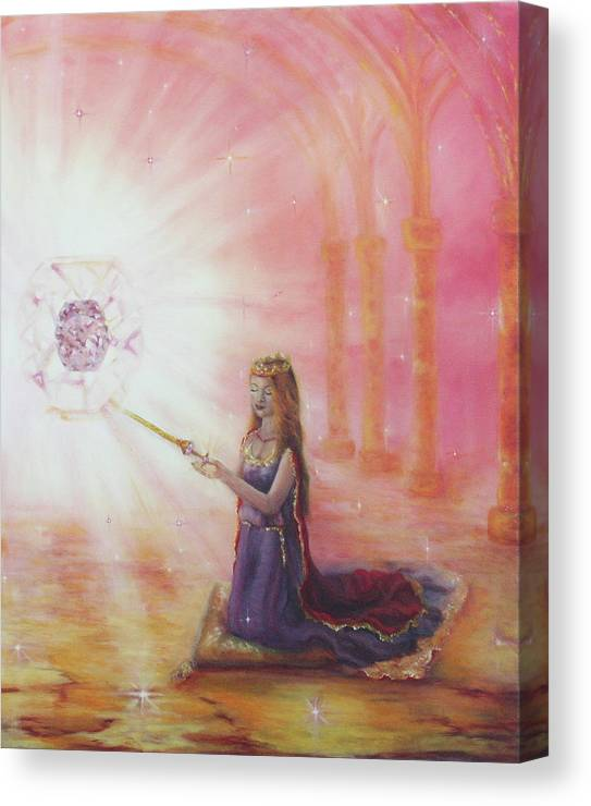 Princess Canvas Print featuring the painting Such A Time As This by Jeanette Sthamann