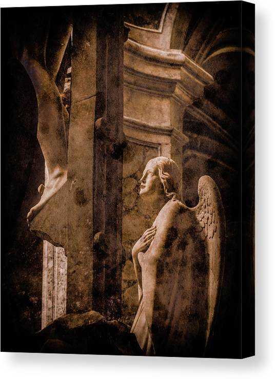 Angel Canvas Print featuring the photograph Paris, France - Adoring Angel by Mark Forte