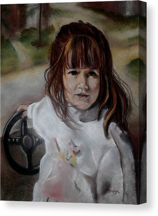 Pastel Canvas Print featuring the painting Brooke by Diana Moya