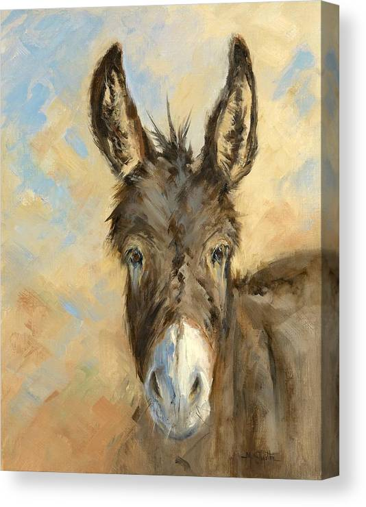 Burro Canvas Print featuring the painting I'm All Ears by Marla Smith