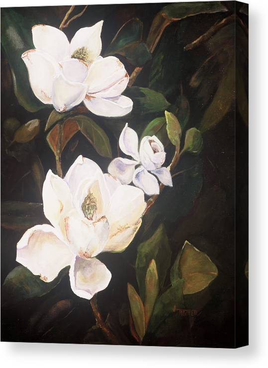 Floral Canvas Print featuring the painting Little Gems by Jimmie Trotter