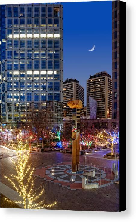 Gallivan Center Canvas Print featuring the photograph Salt Lake City Utah by Douglas Pulsipher
