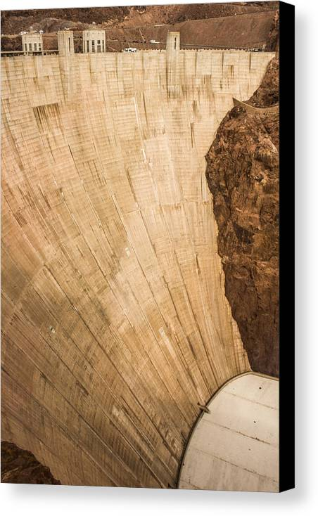Hoover Canvas Print featuring the photograph Hoover Dam 589ft by Chad Kanera