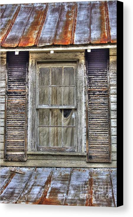 Rusted Tin Roof Canvas Print featuring the photograph I'm Watching You by Benanne Stiens