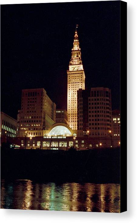 Cleveland Canvas Print featuring the photograph 070506-73 by Mike Davis