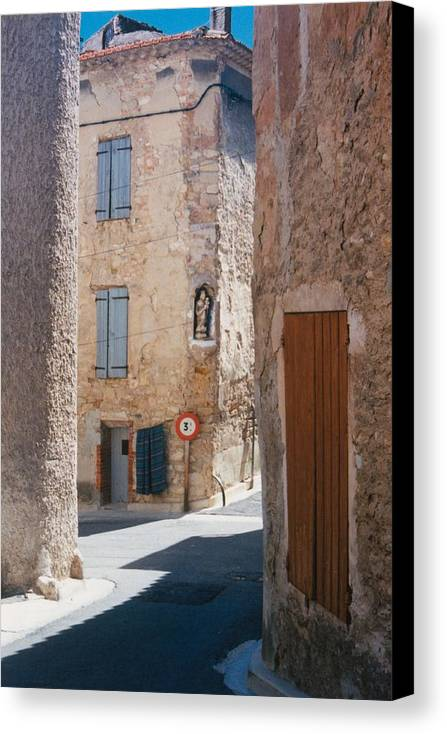 Provence France Canvas Print featuring the photograph Beaumes De Venise by Gary Peterson