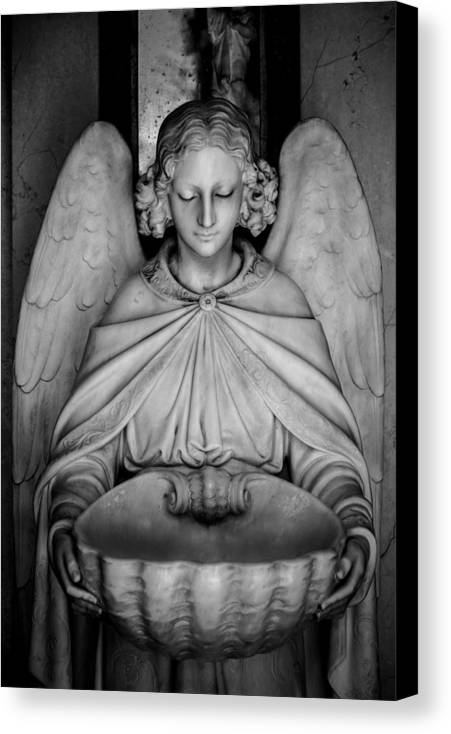 Angel Canvas Print featuring the photograph Entrance Angel by Anthony Citro