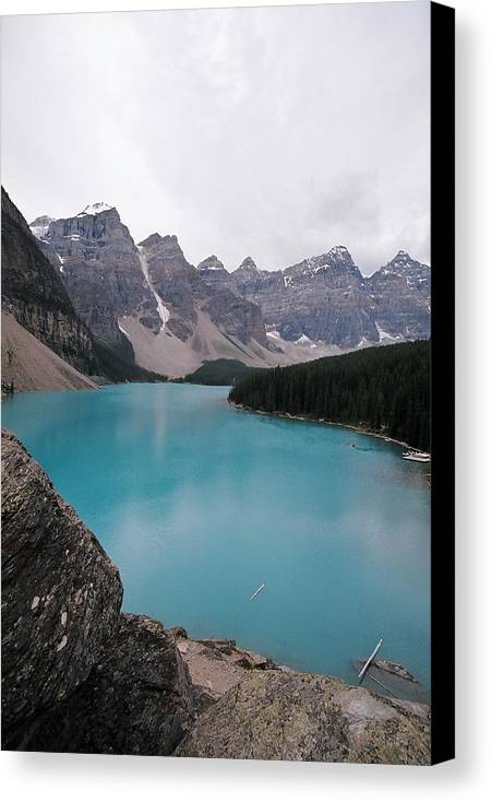 Landscape Canvas Print featuring the photograph Lake Moraine by Caroline Clark