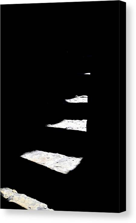 Stairs Canvas Print featuring the photograph Light Play by Miron Abramovici