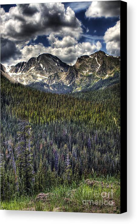 Landscape Canvas Print featuring the photograph Scenic View From The Highway by Pete Hellmann