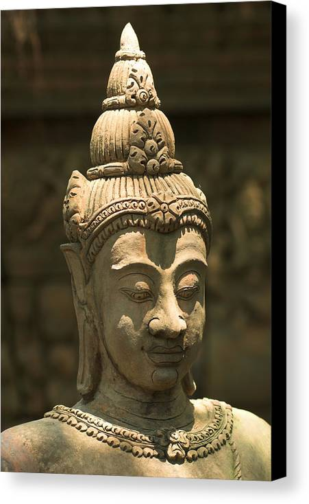 Terracota Canvas Print featuring the photograph Terracota Statue Head by Carmo Correia
