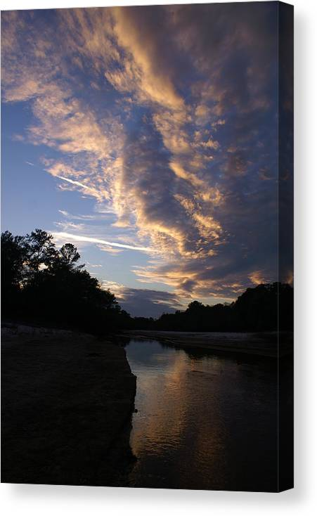 Clouds Canvas Print featuring the photograph Evening Clouds by Wayne Morgan