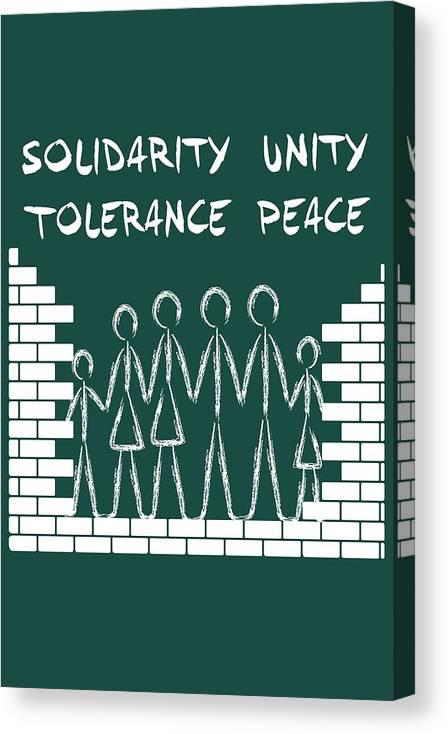 Solidarity Unity Tolerance Peace Canvas Print