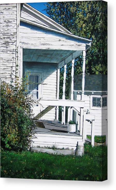 Farmhouse Canvas Print featuring the painting Threshold by William Brody