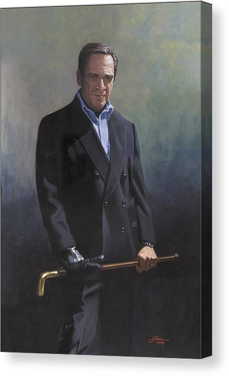 #formal Portrait Of Harold Shull Canvas Print featuring the painting Harold Shull Circa 2004 by Harold Shull