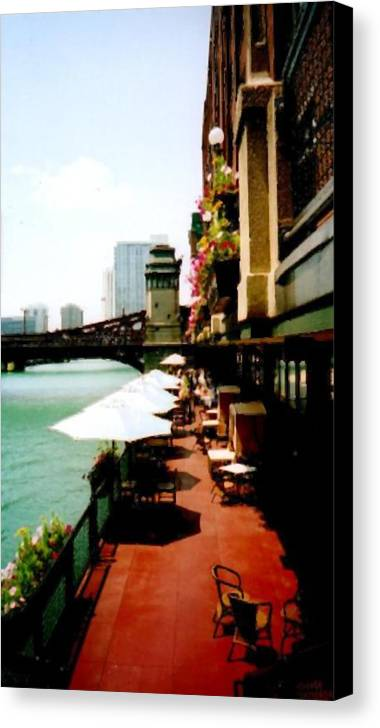 Chicago Canvas Print featuring the photograph By The River by Katriel Jean-Baptiste
