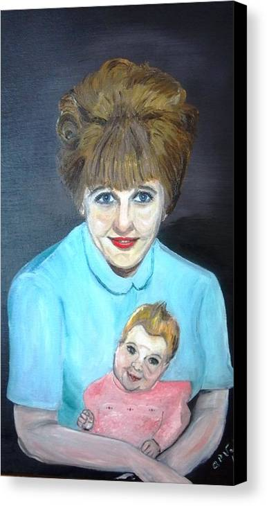 Portrait Adoption Mother Baby Family Love Better Choice Canvas Print featuring the painting Choose Life by Alfred P Verhoeven