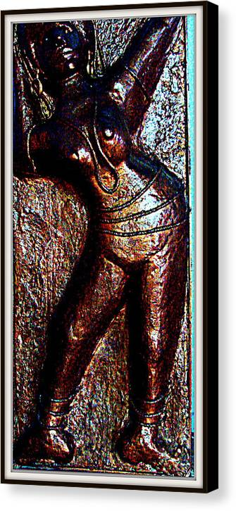 Sculptures Canvas Print featuring the sculpture Dancing Girl by Anand Swaroop Manchiraju