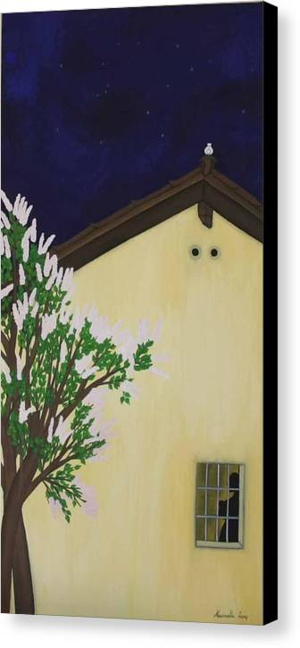 Marinella Owens Canvas Print featuring the painting Mother Peace by Marinella Owens