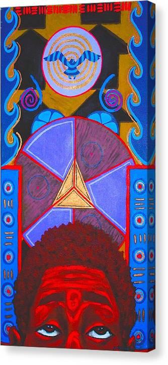 Malik Seneferu Canvas Print featuring the painting Aesthetic Ascension by Malik Seneferu
