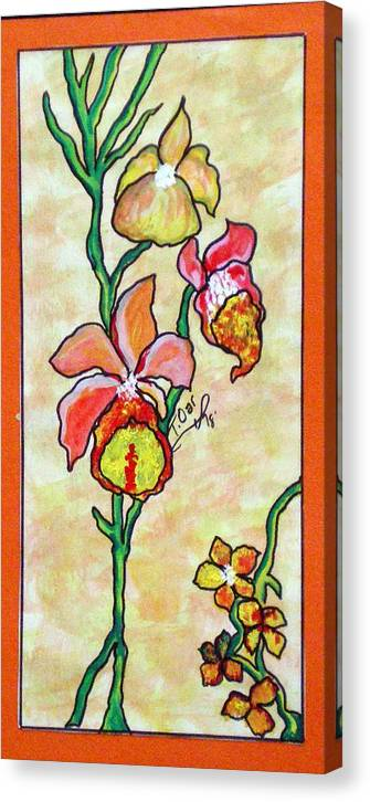 Flowers Flower Warm Canvas Print featuring the painting Warm Flower Study by Tammera Malicki-Wong