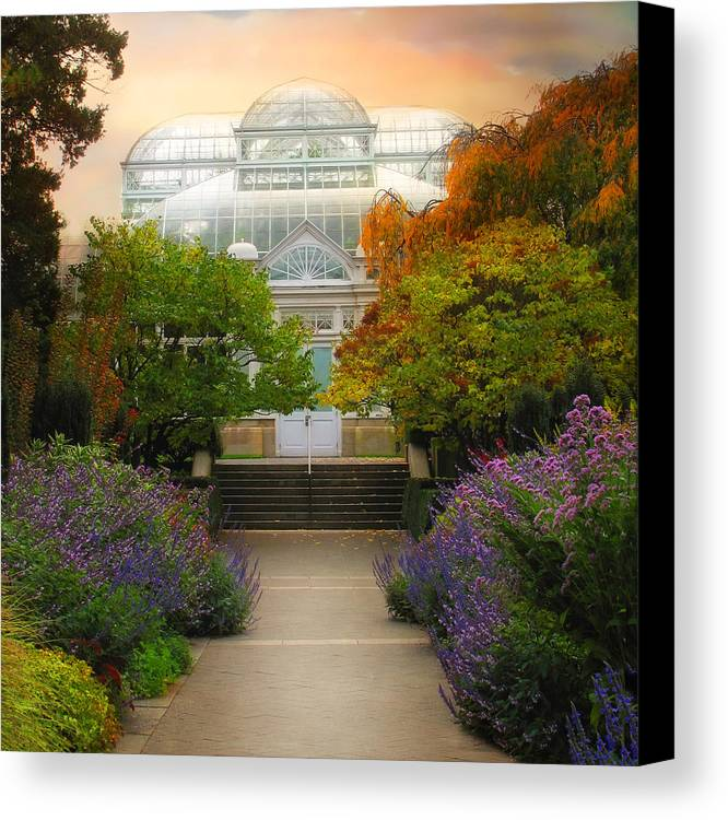 Nature Canvas Print featuring the photograph The Greenhouse by Jessica Jenney