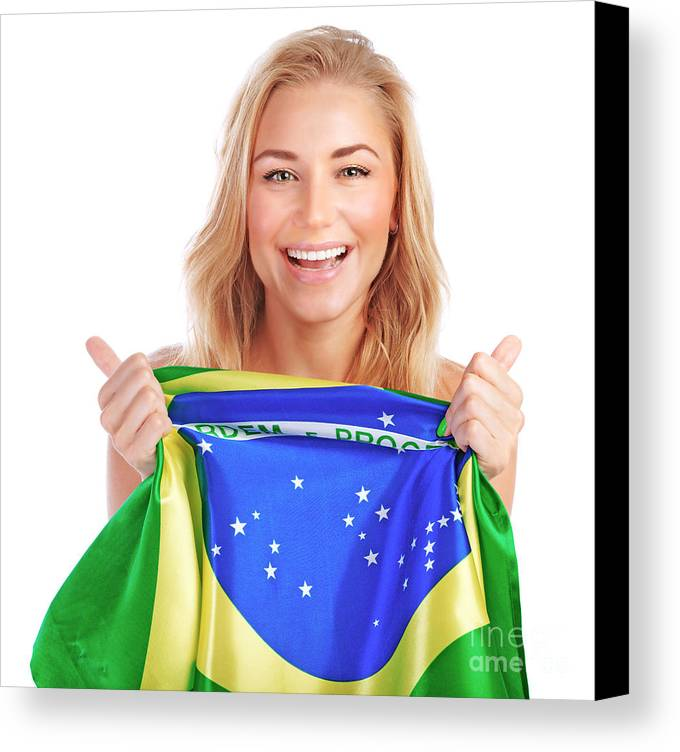 Adult Canvas Print featuring the photograph Happy Football Fan by Anna Om