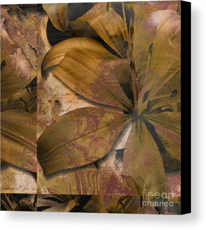 Canvas Print featuring the mixed media Alexia II by Yanni Theodorou