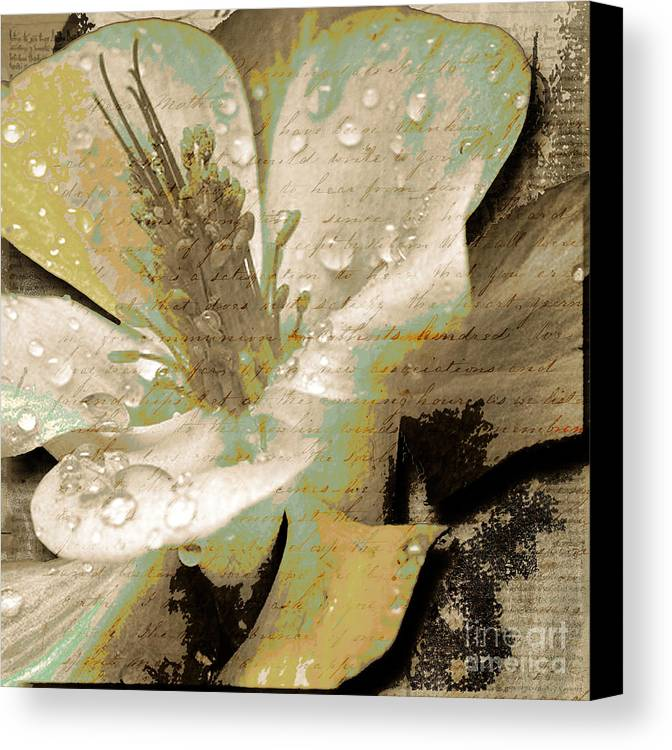 Canvas Print featuring the mixed media Beauty Vii by Yanni Theodorou