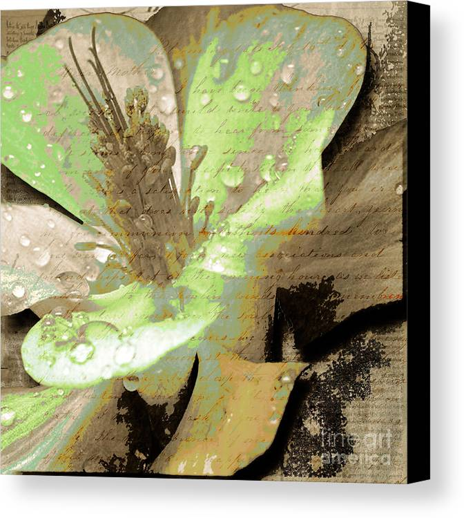 Canvas Print featuring the mixed media Beauty Viii by Yanni Theodorou