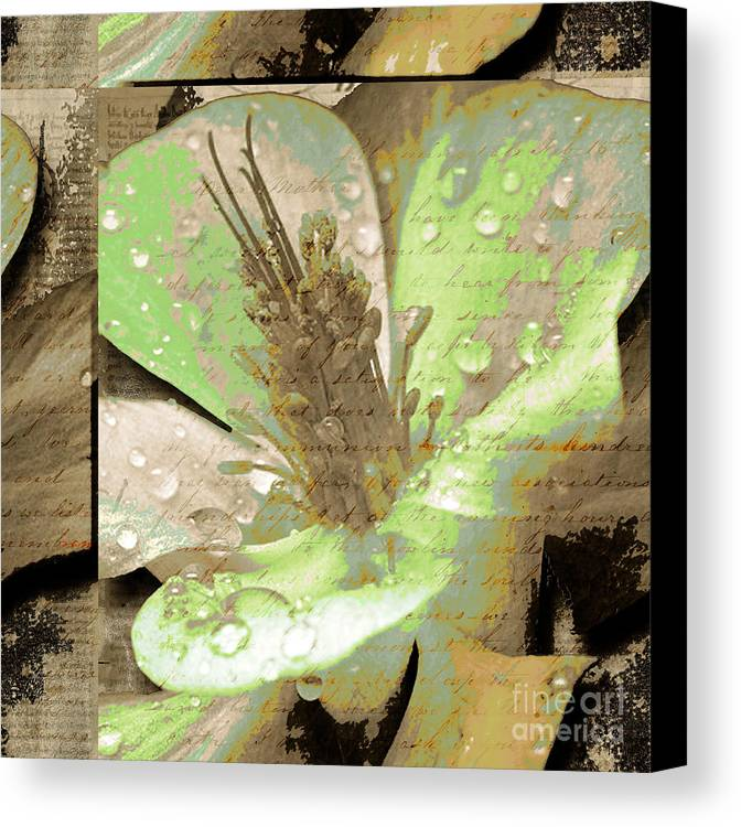 Canvas Print featuring the mixed media Beauty X by Yanni Theodorou