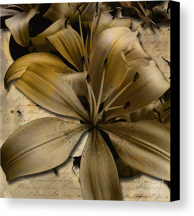 Canvas Print featuring the mixed media Bei by Yanni Theodorou