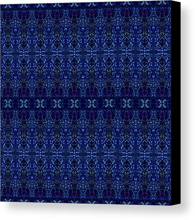 Blue Canvas Print featuring the painting Blue On Blue Repeat by Sue Duda