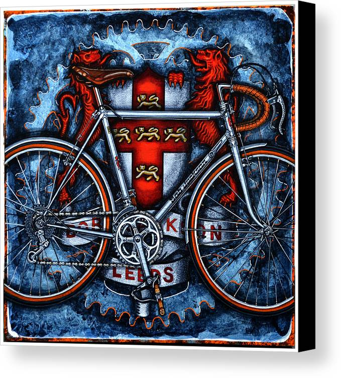 Bicycle Canvas Print featuring the painting Bob Jackson by Mark Howard Jones