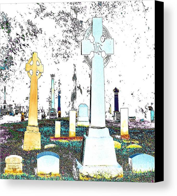 Celtic Crosses Canvas Print featuring the photograph Celtic Crosses by Luther Fine Art