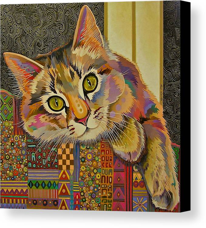 Feline Art Canvas Print featuring the painting Diego by Bob Coonts