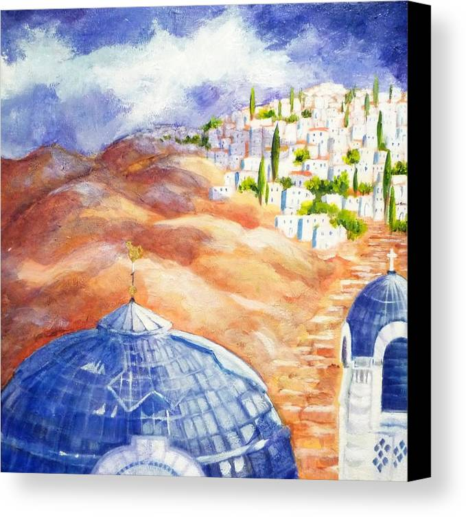 Faith Canvas Print featuring the painting Faith Journey by Betty M M  Wong