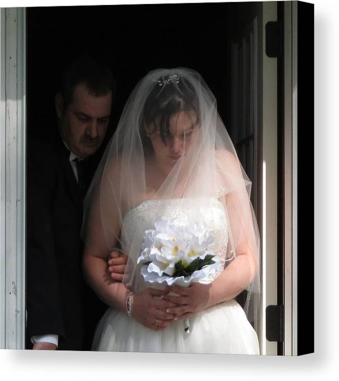 Weddings Canvas Print featuring the photograph Father Daughter Thoughts by Fortunate Findings Shirley Dickerson