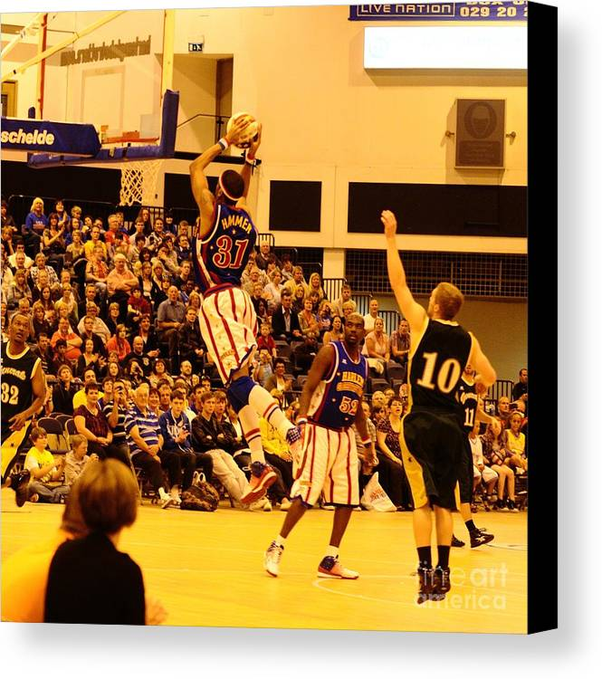 Harlem Globetrotter Canvas Print featuring the photograph Harlem Globetrotters by Jenny Potter
