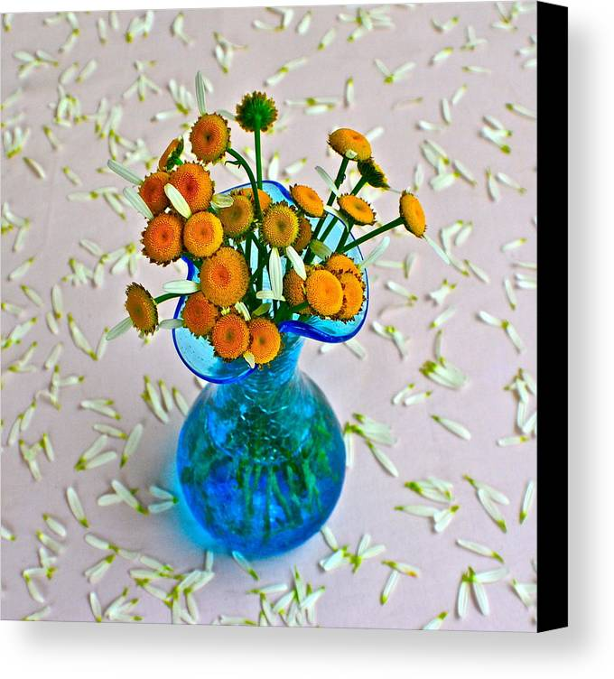 Flowers Canvas Print featuring the photograph He Loves Me Bouquet by Frozen in Time Fine Art Photography