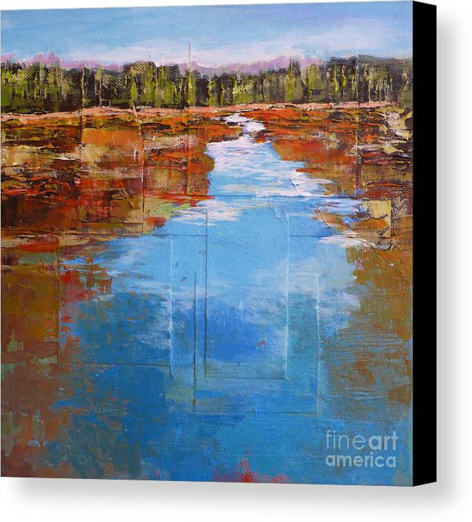 Landscape Canvas Print featuring the painting Heading West No. 5 by Melody Cleary
