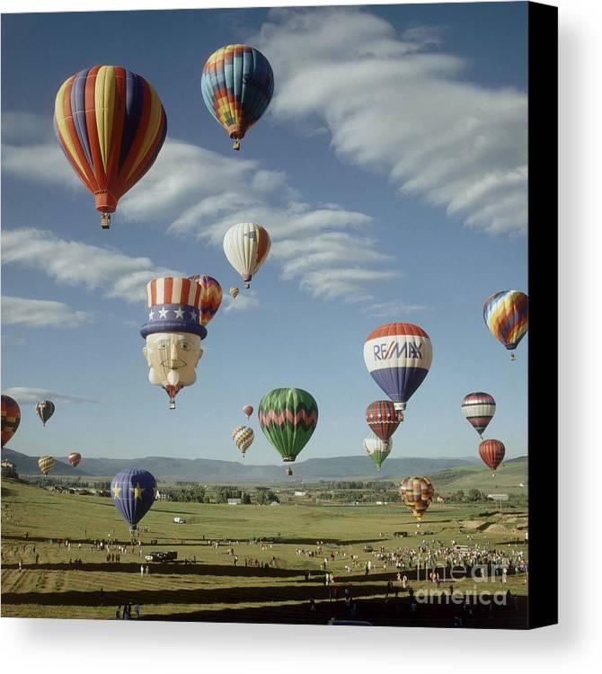 Hot Air Balloon Canvas Print featuring the photograph Hot Air Balloon by Jim Steinberg