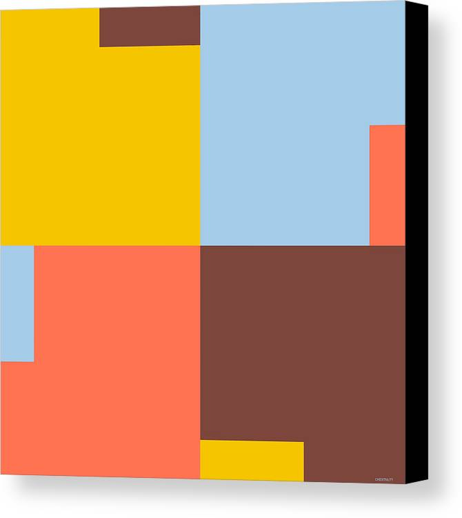 Graphic Painting In Cadmium Yellow Canvas Print featuring the digital art In Situ 22 by David Chestnutt