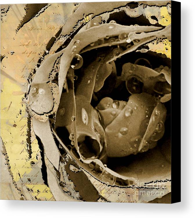 Canvas Print featuring the mixed media Life by Yanni Theodorou