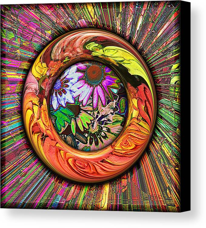 Digital Canvas Print featuring the digital art Look Through Any Window by Wendy J St Christopher