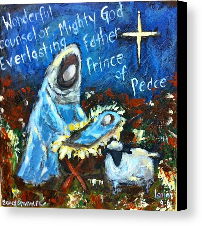 Canvas Print featuring the painting Lord by Stacy Spangler