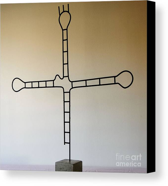 Rood Canvas Print featuring the sculpture Molecular Religion by Franco Divi